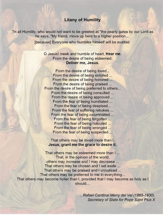 Priceless image regarding litany of humility printable